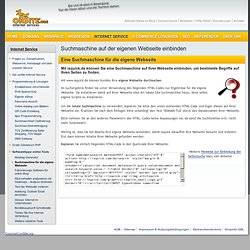 Suchmaschine für die eigene Homepage - Copy&Paste