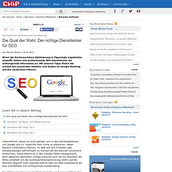 Suchmaschinen-Optimierung als Dienstleistung - Business