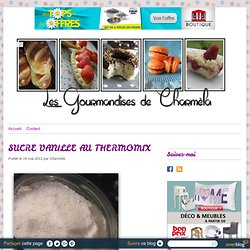 SUCRE VANILLE AU THERMOMIX -