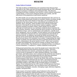 Sudan - HEALTH