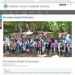 The Sudbury Model of Education