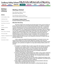 Online Library. Starting a School