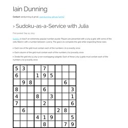 Sudoku-as-a-Service with Julia