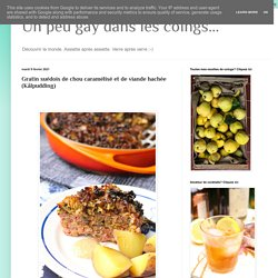 Gratin suédois de chou caramélisé et de viande hachée (Kålpudding)