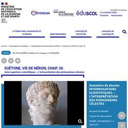 Suétone, Vie de Néron, chap. 36
