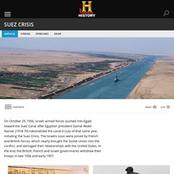 Suez Crisis - Cold War