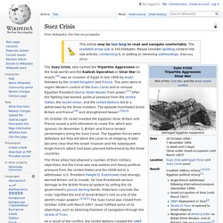 Suez Crisis - Wikipedia