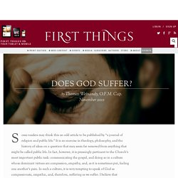 Does God Suffer? by Thomas Weinandy, O.F.M. Cap.