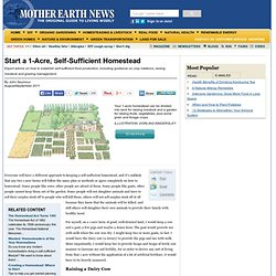 Start a 1-Acre, Self-Sufficient Homestead - Modern Homesteading