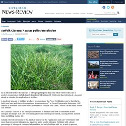 Suffolk Closeup: A water pollution solution