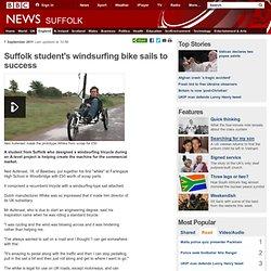 Suffolk student's windsurfing bike sails to success