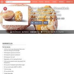Chai Sufganiyot (Hanukkah Donuts) with Orange-Pumpkin Buttercream Recipe