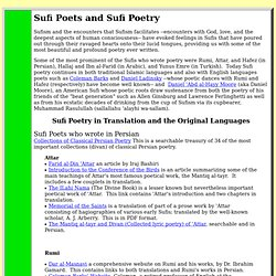 Sufi Poets and Sufi Poetry