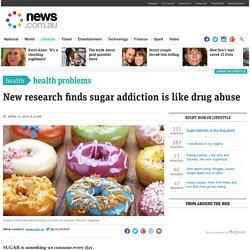Sugar addiction is like drug abuse