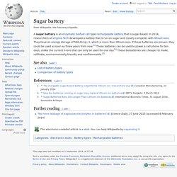 Sugar battery