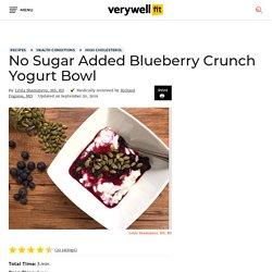 No Sugar Added Blueberry Crunch Yogurt Bowl