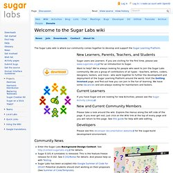 Welcome to the Sugar Labs wiki