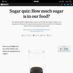 Sugar quiz: How much sugar is in our food?