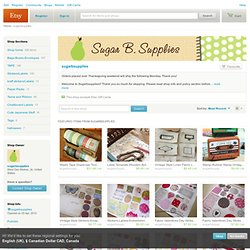 sugarbsupplies on Etsy