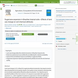 Sugarcane expansion in Brazilian tropical soils—Effects of land use change on soil chemical attributes