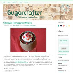 Chocolate-Pomegranate Mousse