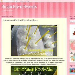 Lemonade Kool-Aid Marshmallows