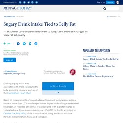 Sugary Drink Intake Tied to Belly Fat
