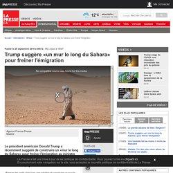 Trump suggère «un mur le long du Sahara» pour freiner l'émigration