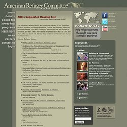 ARC's Suggested Reading List - American Refugee Committee