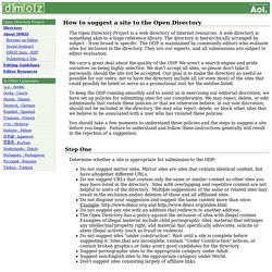 Suggesting a Site to The Open Directory Project