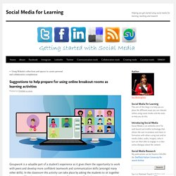 Suggestions to help prepare for using online breakout rooms as learning activities