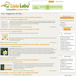 Suggestions de listes Archives - ListoLabo