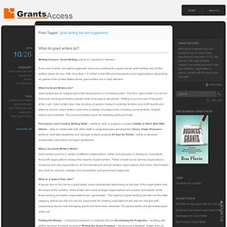 Grant Writing Tips And Suggestions