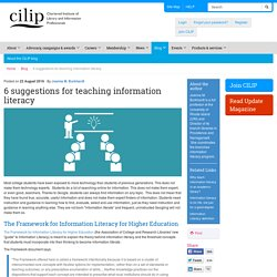 6 suggestions for teaching information literacy