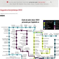 Carte de métro littéraire : Suggestions de lecture pour l'automne 2018