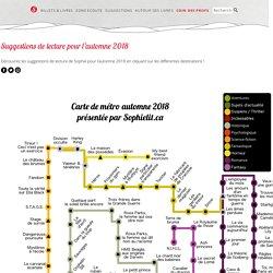Une carte de métro littéraire par Sophielit.ca