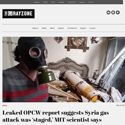 Leaked OPCW report suggests Syria gas attack was 'staged,' MIT scientist says