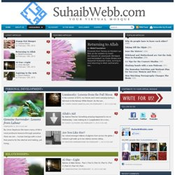 SuhaibWebb.com — Your Virtual Mosque