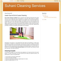 Suhani Cleaning Services: Useful Tips for End of Lease Cleaning