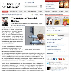 The Origins of Suicidal Brains