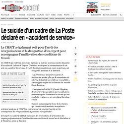 Le suicide d'un cadre de La Poste déclaré en «accident de service»
