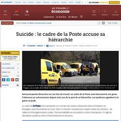 Emploi : Suicide : le cadre de la Poste accuse sa hiérarchie