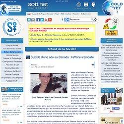 Suicide d'une ado au Canada : l'affaire s'emballe