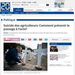 Suicide des agriculteurs: Comment prévenir le passage à l'acte?