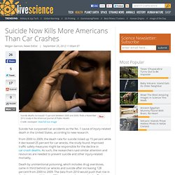 Suicide Now Kills More Americans Than Car Wrecks