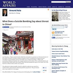 What Does a Suicide Bombing Say about Unrest in China?