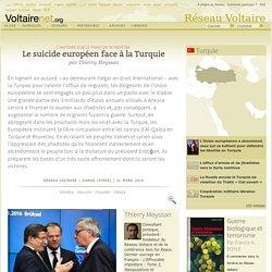 Le suicide européen face à la Turquie, par Thierry Meyssan
