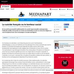 Le suicide français ou le bonheur social