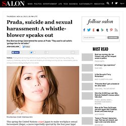 Prada, suicide and sexual harassment: A whistle-blower speaks out