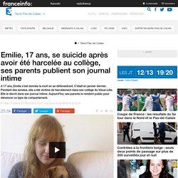 Emilie, 17 ans, se suicide après avoir été harcelée au collège, ses parents publient son journal intime